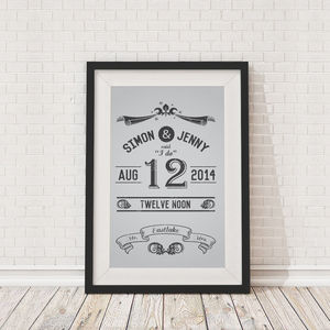 Personalised Couples Wedding Framed Print