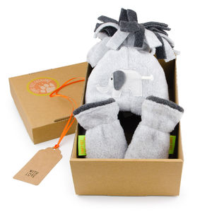 Elephant Hat And Mittens Gift Set For Baby And Child