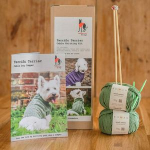 Dog Jumper Knitting Kit Terrific Terrier