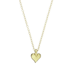 18k Gold Plated Heart Of Gold Necklace - necklaces & pendants