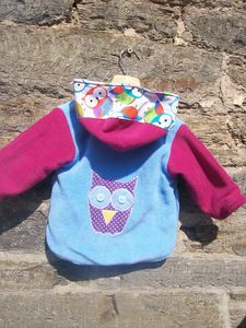 Personalised Owl Hoot Fleece - children's coats & jackets