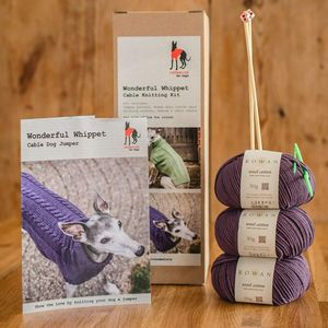 Dog Jumper Knitting Kit Wonderful Whippets - dogs