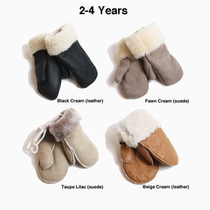 Childrens Sheepskin Mittens To Six Years - hats, scarves & gloves