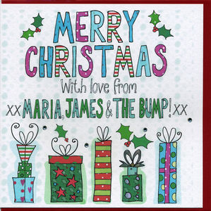 Multi Pack Personalised Presents Christmas Cards