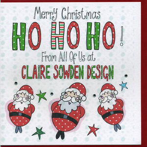 Multi Buy Personalised Santa Christmas Cards