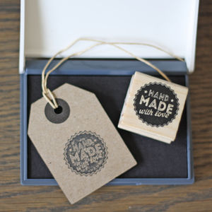 Handmade With Love Stamp And Ink Pad - stamps & ink pads