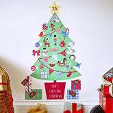 Personalised Advent Calendar Tree Wall Stickers - christmas