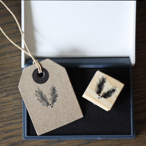 Winter Fir Tree Stamp And Ink Pad - finishing touches