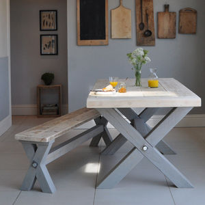 Reclaimed Timber Refectory Dining Table - dining room