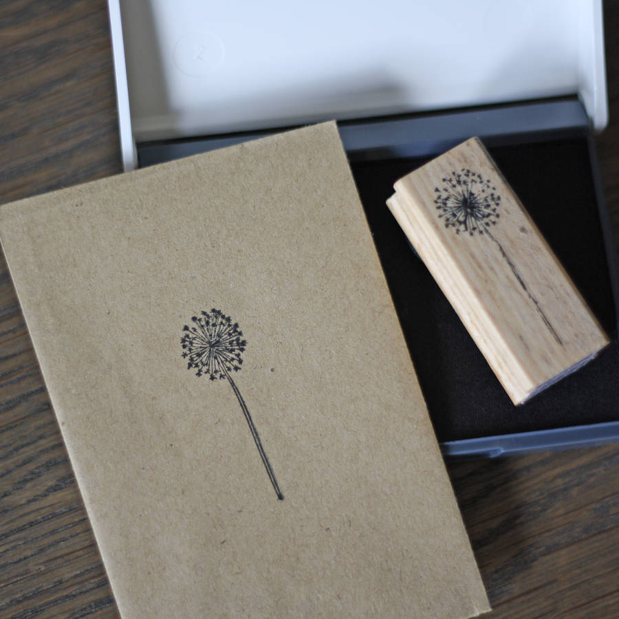 Dandelion Stamp And Ink Pad