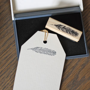 Feather Stamp And Ink Pad