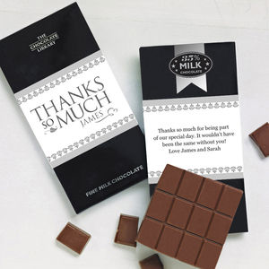 Thanks So Much Chocolate Bars - wedding favours