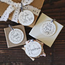 Gift Tags With Scalloped Edges