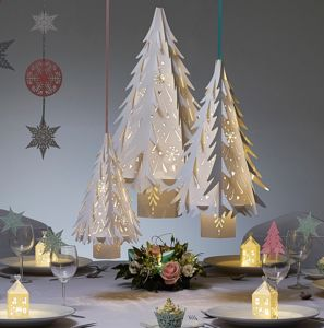 Intricate Christmas Tree Lantern - christmas party