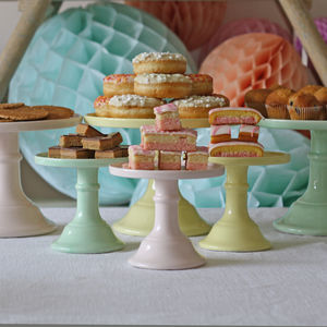Ceramic Cake Stand - baby shower decorations