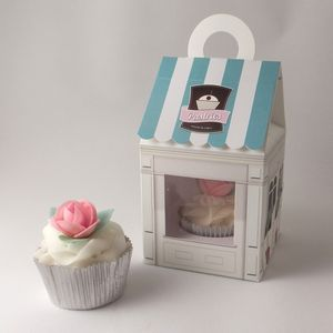 Cupcake Boxes: Pastries Shop Design Pack Of Four