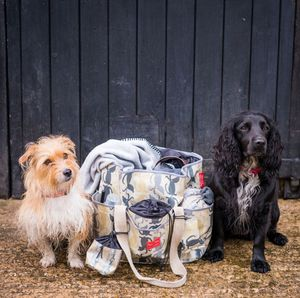 Oilcloth Travel Bag - dogs