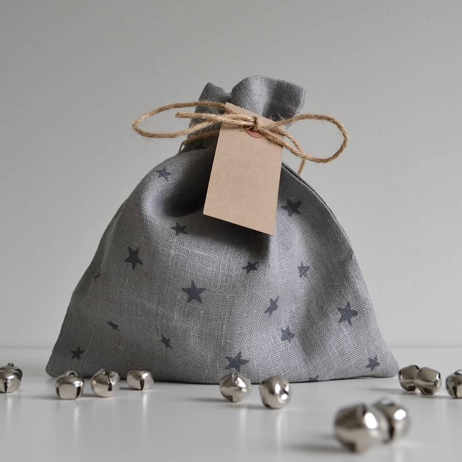 Star Pattern Fabric Gift Bag