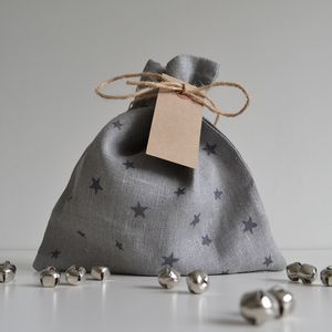 Star Pattern Fabric Gift Bag