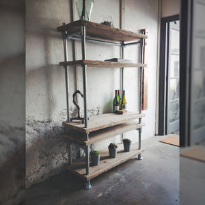 Reclaimed Scaffold And Pipe Industrial Shelving Unit - shelves