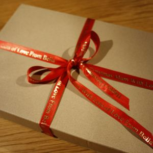 Personalised Christmas Gift Ribbon