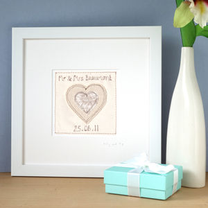 Personalised Wedding Or Anniversary Picture, Framed
