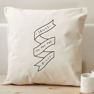 Skills Bills Cushion Cover - patterned cushions