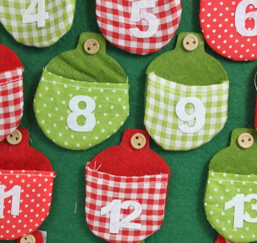 felt christmas tree advent calendar by posh totty designs interiors ...