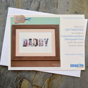 Framed Personalised Photograph Print Gift Voucher