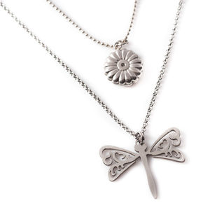 Layered Dragonfly Necklace - women's jewellery