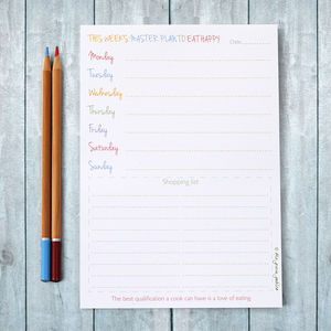 Weekly Meal Planner Pad