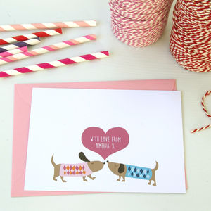 12 Personalised Puppy Love Note Cards - more