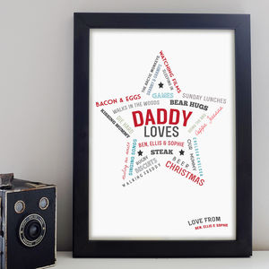 Daddy Loves Print - posters & prints