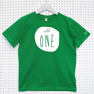 'Wild One' Child's Organic Cotton T Shirt