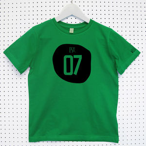 'Established' Child's Organic Cotton T Shirt - baby & child