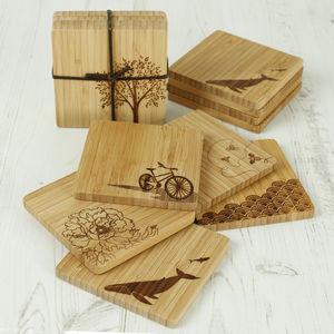 Set Of Four Bamboo Coasters