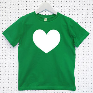 Heart Child's Organic Cotton T Shirt - clothing