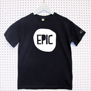 'Epic Bubble' Child's Organic Cotton T Shirt