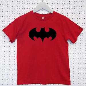 Batman Logo Child's Organic Cotton T Shirt - more