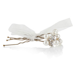 Catherine Pearl And Diamante Hairpins - head pieces