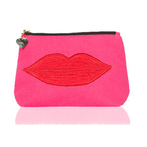Pink Luscious Lips Pouch - bags & purses