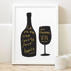 French Wine Kitchen Print
