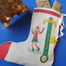 Personalised Santometre Christmas Stocking For Girls
