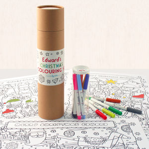 Personalised Christmas Colouring Set - personalised