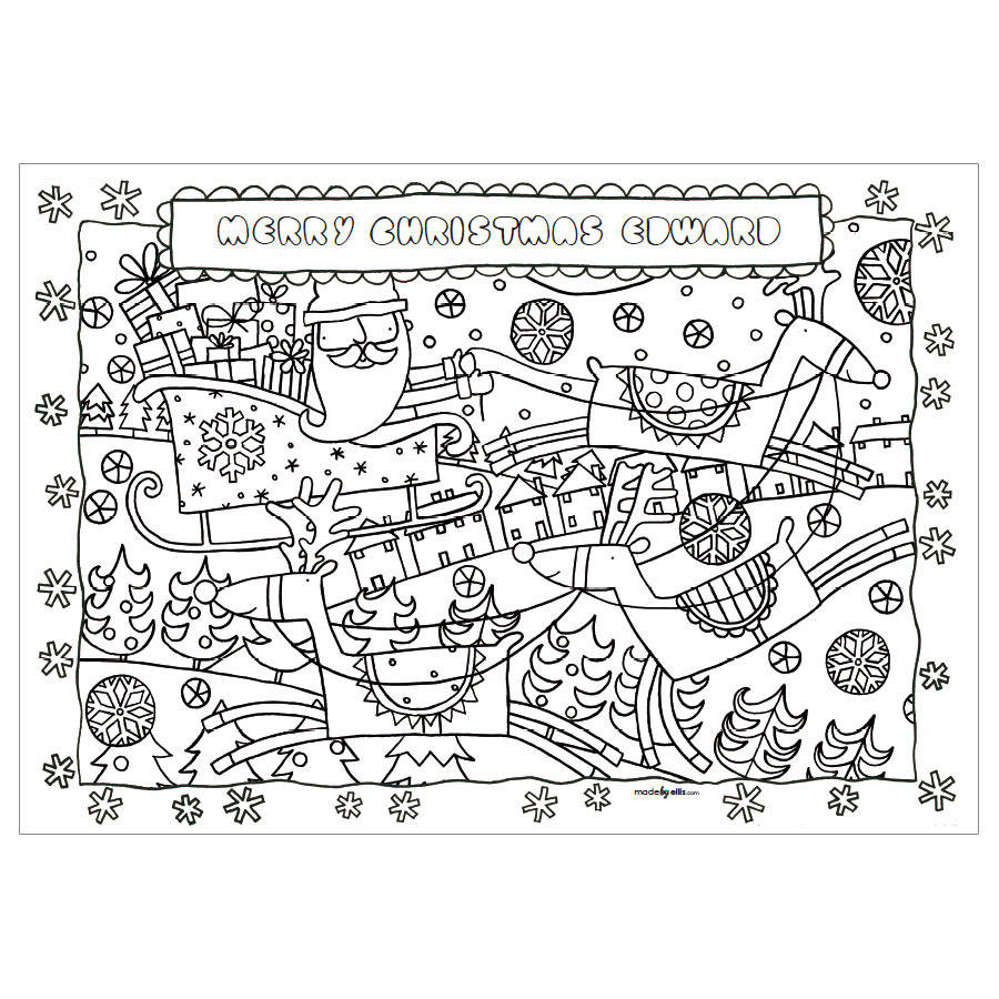 personalised christmas colouring set by made by ellis ...