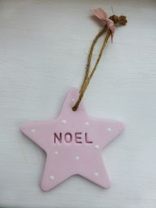Noel Hanging Christmas Star - tree decorations