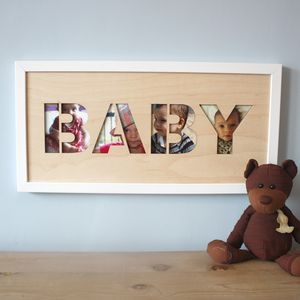 'Baby' Cut Out Art Print - children's room accessories