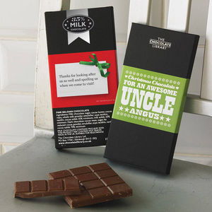 Personalised Family Christmas Chocolate Bar