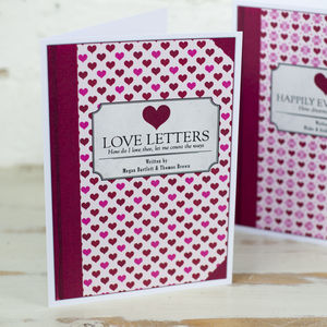 Personalised Love Story Book Cover Card