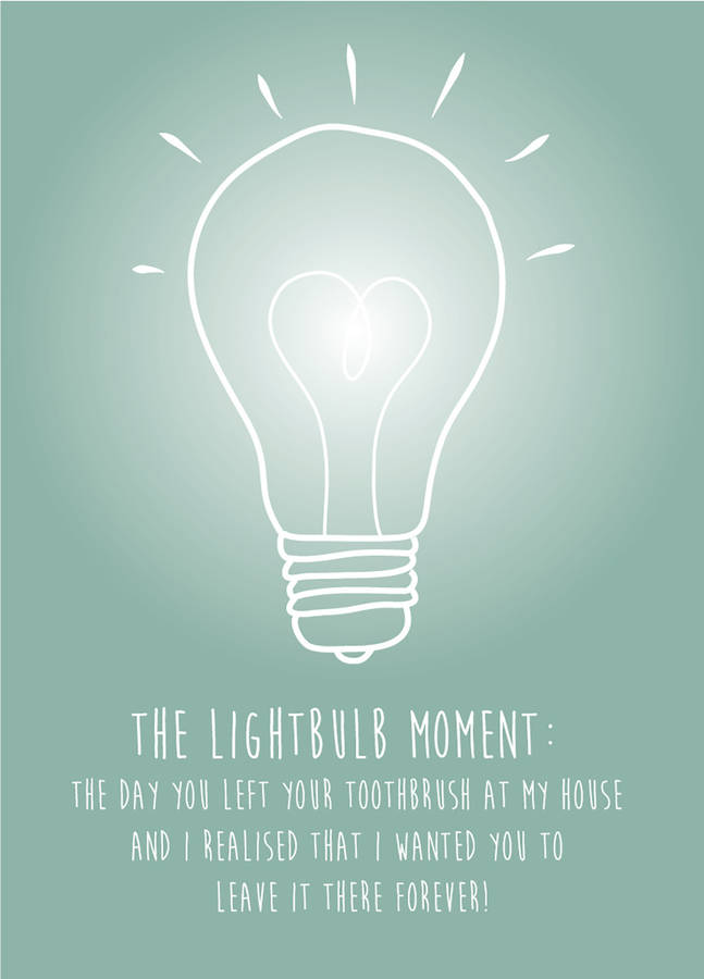 a light bulb moment In what blocks light bulb moments, i explored how different areas of your body and different types of thought can have the effect of blocking or dampening the experiencing of light bulb moments a light bulb moment is different from any old thought as it affects our whole body, and mind people who have experienced light bulb moments report how they can feel it in their water and how it.
